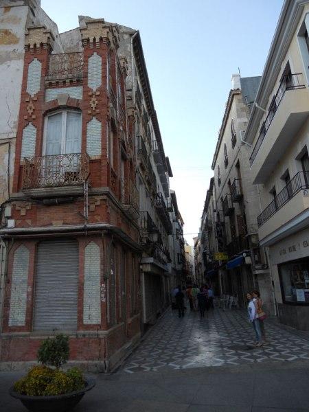 Acceso a la calle Maestra desde la Catedral de la Asunción de Jaén