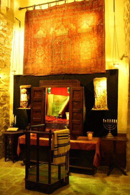 Espacio dedicado a los rituales en la sinagoga.