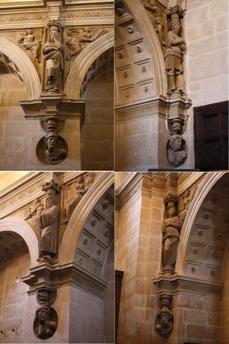 Cuatro primeras Cariátides de la Sacristía de la Sacra Capilla del Salvador, Úbeda